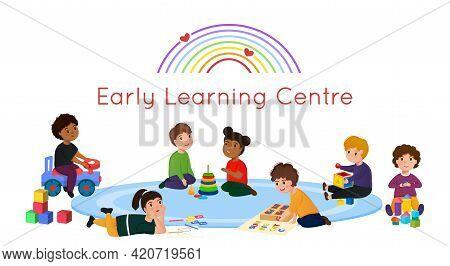 Early Learning Centre Logotype. Public School And Kindergarten Logo.