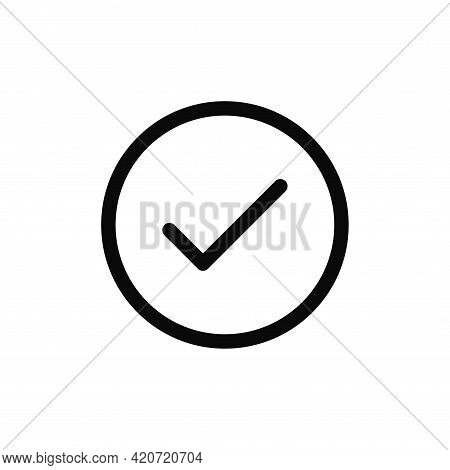Check Mark Icon Isolated On White Background. Check Mark Icon In Trendy Design Style For Web Site An