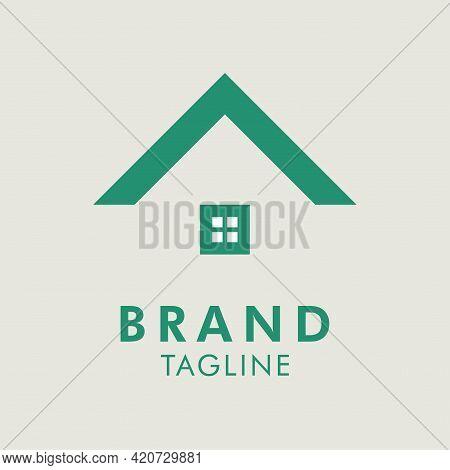 Vector Logo Template For Building Company, Logo Cabin Camping Home