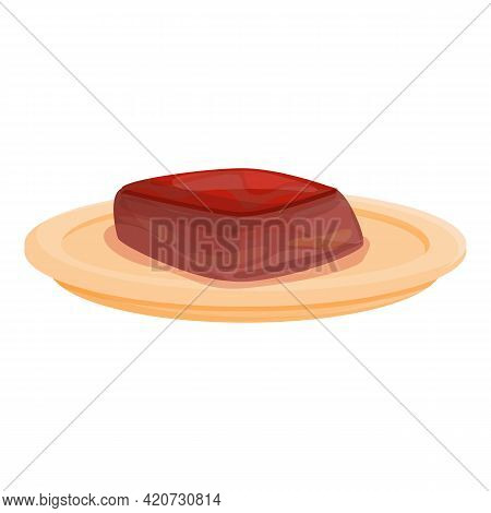 Korean Dessert Icon. Cartoon Of Korean Dessert Vector Icon For Web Design Isolated On White Backgrou