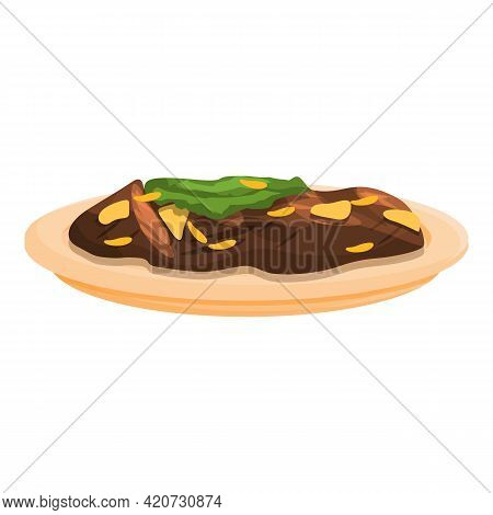 Korean Break Food Icon. Cartoon Of Korean Break Food Vector Icon For Web Design Isolated On White Ba