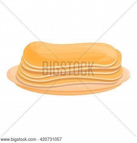 Korean Pancakes Icon. Cartoon Of Korean Pancakes Vector Icon For Web Design Isolated On White Backgr