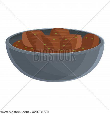 Restaurant Korean Meal Icon. Cartoon Of Restaurant Korean Meal Vector Icon For Web Design Isolated O