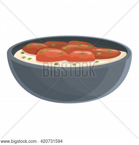 Korean Culture Food Icon. Cartoon Of Korean Culture Food Vector Icon For Web Design Isolated On Whit
