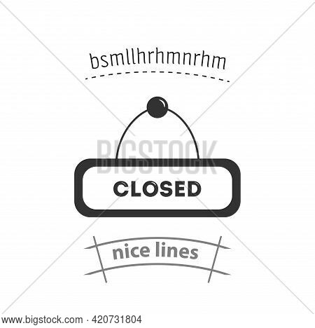 Closed Simple Vector Icon. Closed Tag Isolated Icon