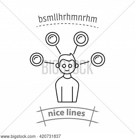 Competence Of Worker Line Simple Vector Icon. Competence Worker Isolated Icon