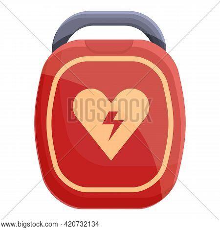 Hypertension Defibrillator Icon. Cartoon Of Hypertension Defibrillator Vector Icon For Web Design Is