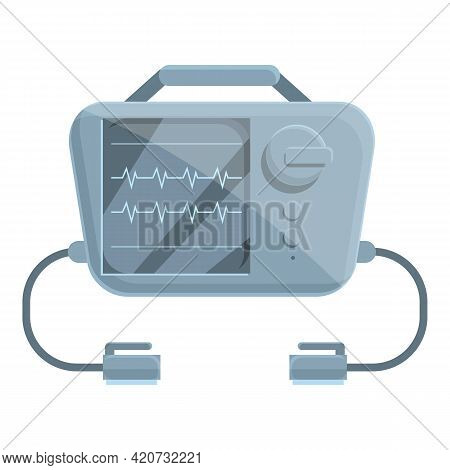 Pacemaker Defibrillator Icon. Cartoon Of Pacemaker Defibrillator Vector Icon For Web Design Isolated