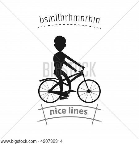 Man Rides A Bicycle Simple Vector Icon. Rides A Bicycle Isolated Icon