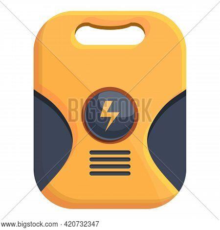 Device Defibrillator Icon. Cartoon Of Device Defibrillator Vector Icon For Web Design Isolated On Wh