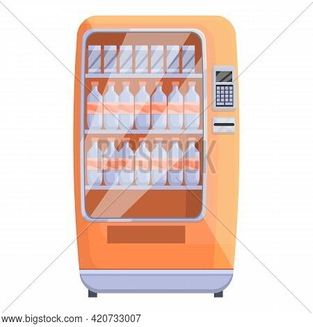 Soda Drink Machine Icon. Cartoon Of Soda Drink Machine Vector Icon For Web Design Isolated On White