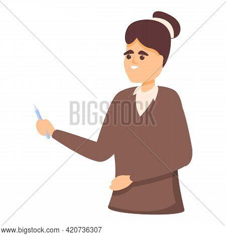Colleague Teacher Icon. Cartoon Of Colleague Teacher Vector Icon For Web Design Isolated On White Ba