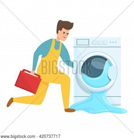 Fast Washing Machine Repair Icon. Cartoon Of Fast Washing Machine Repair Vector Icon For Web Design