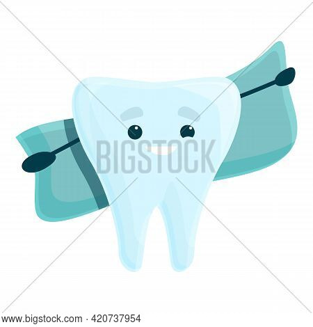 Teeth Whitening Icon. Cartoon Of Teeth Whitening Vector Icon For Web Design Isolated On White Backgr