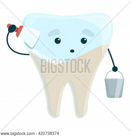 Teeth Whitening Paint Icon. Cartoon Of Teeth Whitening Paint Vector Icon For Web Design Isolated On