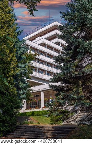 Cluj-napoca, Romania - September 20, 2020: Hotel Belvedere, An Iconic Point In The City For Over 40