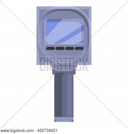 Speed Radar Camera Icon. Cartoon Of Speed Radar Camera Vector Icon For Web Design Isolated On White