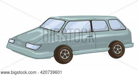 Retro Mini Van Of 1990s, Old Car Vintage Transport