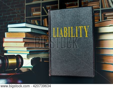 Law Book About Liability In The Court.