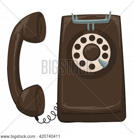 Vintage Telephone With Rotary System Of Dialing