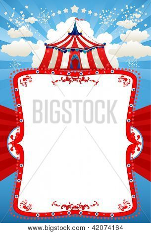 Circus tent background with space for text