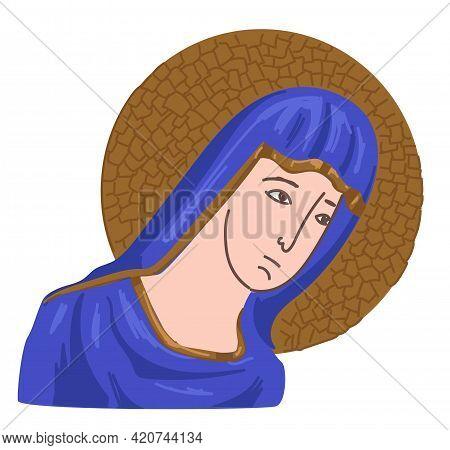 Christian Icon Of Virgin Mary, Christianity Pray