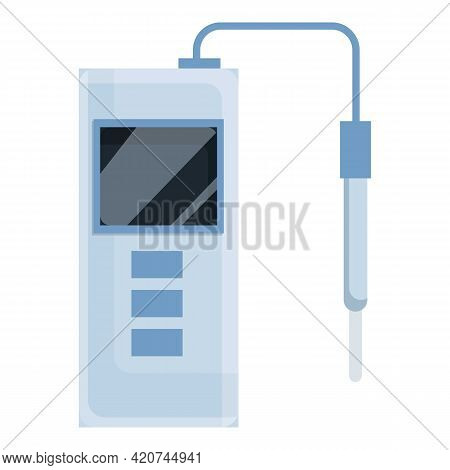 Ph Meter Icon. Cartoon Of Ph Meter Vector Icon For Web Design Isolated On White Background