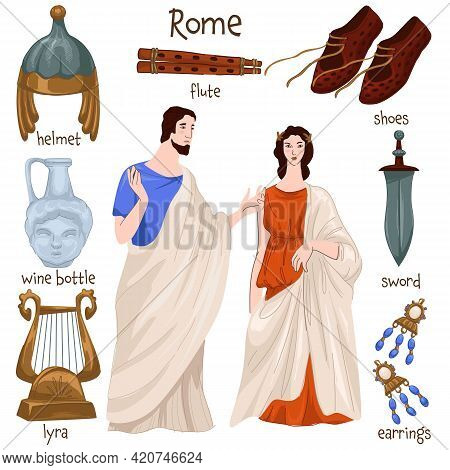 Ancient Rome People And Clothes, Old Furniture