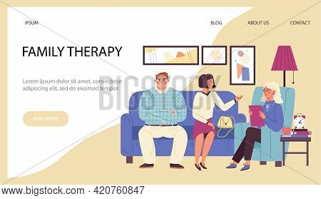 Vector Web Banner For Family Psychologist Or Psychotherapist