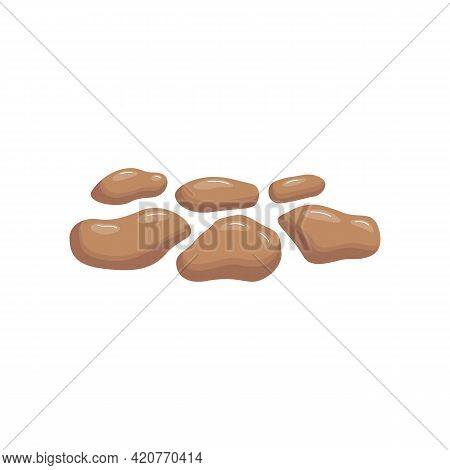 Soft Blob Consistency Of Excrement Or Feces, Flat Vector Illustration Isolated.