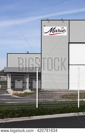 Macon, France - March 15, 2020: Marie Factory In France. Marie Is A French Food Company Specializing