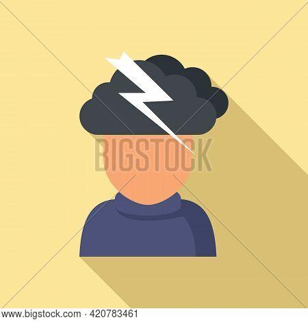 Rage Man Icon. Flat Illustration Of Rage Man Vector Icon For Web Design