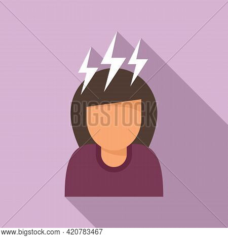 Rage Woman Icon. Flat Illustration Of Rage Woman Vector Icon For Web Design