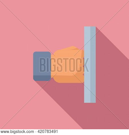 Fist Wall Icon. Flat Illustration Of Fist Wall Vector Icon For Web Design