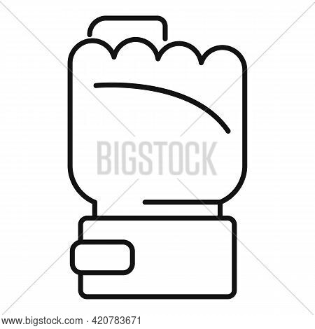 Power Fist Icon. Outline Power Fist Vector Icon For Web Design Isolated On White Background