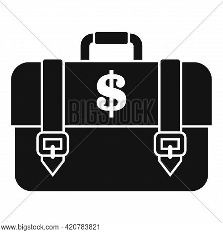Bank Teller Briefcase Icon. Simple Illustration Of Bank Teller Briefcase Vector Icon For Web Design