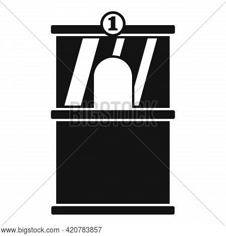 Bank Teller Icon. Simple Illustration Of Bank Teller Vector Icon For Web Design Isolated On White Ba