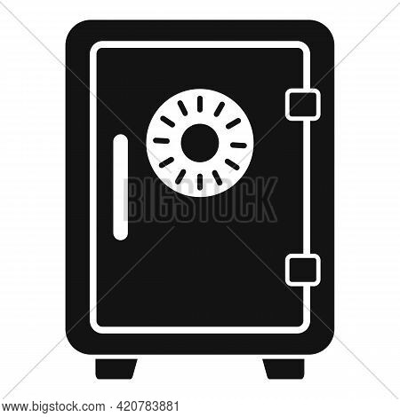 Bank Teller Money Safe Icon. Simple Illustration Of Bank Teller Money Safe Vector Icon For Web Desig