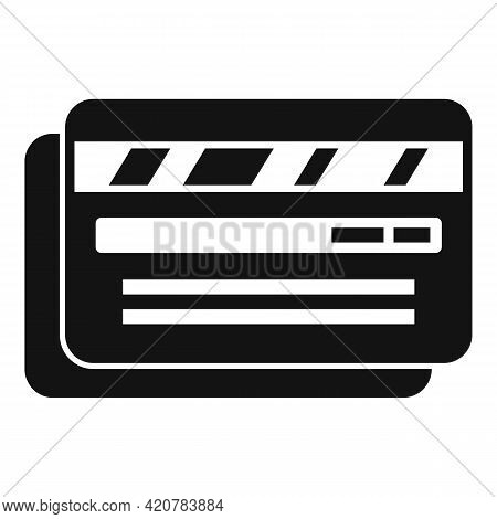 Bank Cards Teller Icon. Simple Illustration Of Bank Cards Teller Vector Icon For Web Design Isolated