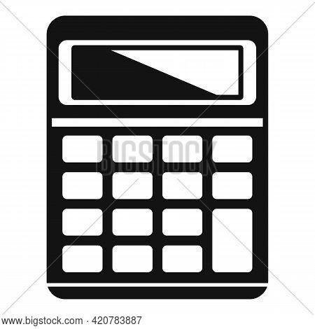 Bank Teller Calculator Icon. Simple Illustration Of Bank Teller Calculator Vector Icon For Web Desig