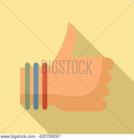 Hitchhiking Thumb Up Icon. Flat Illustration Of Hitchhiking Thumb Up Vector Icon For Web Design