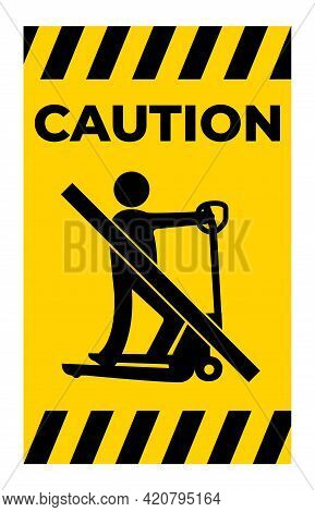 Symbol Caution Do Not Play With Scooters