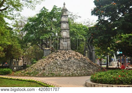 Chua But Thap Stupa Temple Or Pagoda But Thap In Den Ba Kieu Shrine Temple For Vietnamese People And