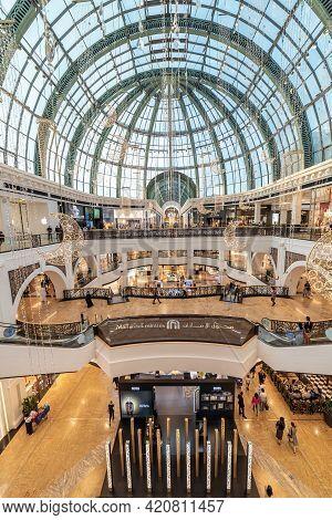 Dubai, United Arab Emirates – May 12, 2021, Mall Of Emirates Shopping Mall Interior
