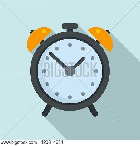 Syllabus Alarm Clock Icon. Flat Illustration Of Syllabus Alarm Clock Vector Icon For Web Design