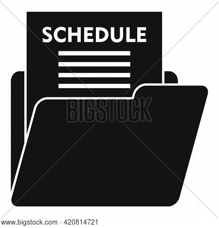Syllabus Schedule Icon. Simple Illustration Of Syllabus Schedule Vector Icon For Web Design Isolated