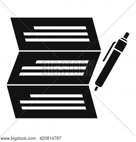 Syllabus Write Paper Icon. Simple Illustration Of Syllabus Write Paper Vector Icon For Web Design Is