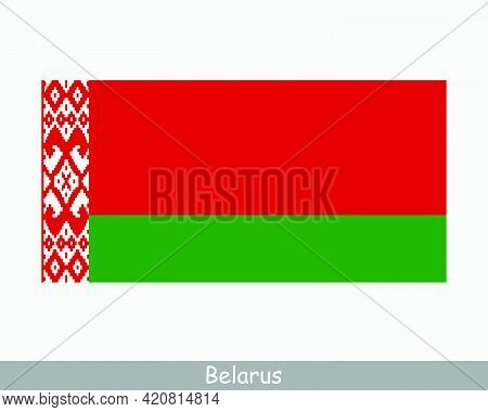 National Flag Of Belarus. Belarusian Country Flag. Republic Of Belarus Detailed Banner. Eps Vector I