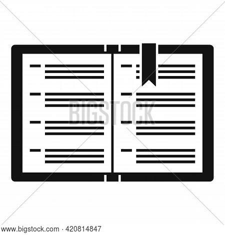 Syllabus Instruction Book Icon. Simple Illustration Of Syllabus Instruction Book Vector Icon For Web