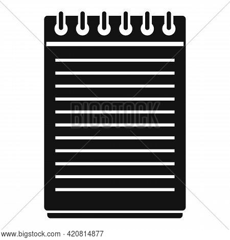 Syllabus Notepad Icon. Simple Illustration Of Syllabus Notepad Vector Icon For Web Design Isolated O